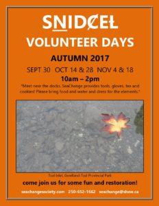SNDCEL volunteer days