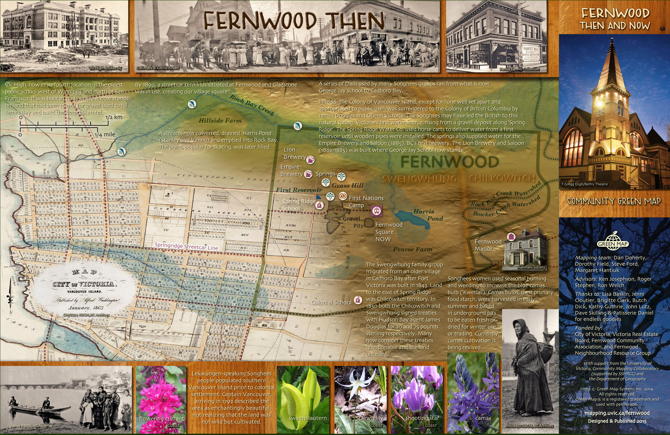The Fernwood neighbourhood community green map then side