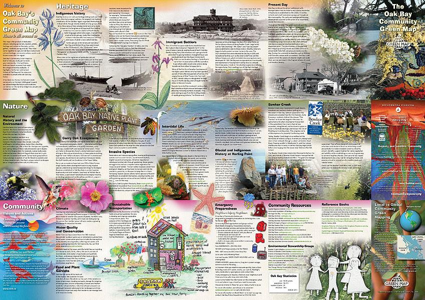 Oak Bay Green Map text side