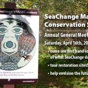 a poster for SeaChange' AGM in SNIDCEL 2016