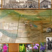 The Fernwood neighbourhood community green map then side