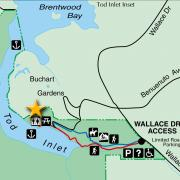 Gowland Tod Map showing meeting location for SNIDCEL volunteer days