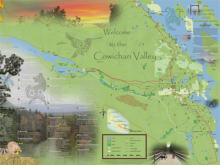 Cowichan Valley Green Map front