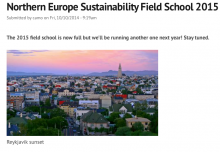 Sustainability Field School Experience